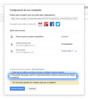 Como proteger tus archivos compartidos en Google Drive